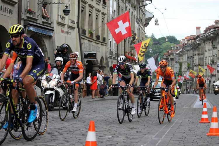 Tour De Suisse Flags Cycling Bicycle Sports Photography City Bern, Switzerland Old Town Tourist Destination Switzerland Street Power HJB Outdoors Sport Sports Team Sport Event