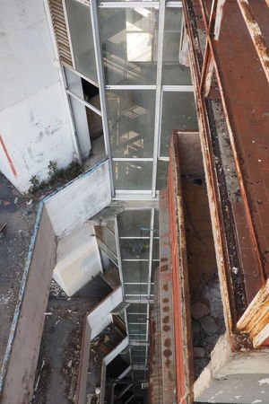 Scampia Architecture Broken Down House Documentary Failure  High Angle View Indoors  Lost Place Napoli Sails Scampia Social Housing Staircase Steps And Staircases Vele