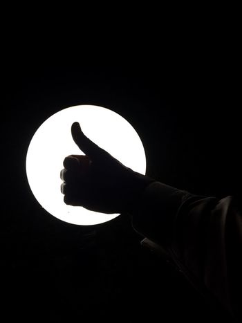 Like Human Hand One Person Studio Shot Real People Index Finger Men Black Background Lifestyles Likes Thumbs Up Thumbs