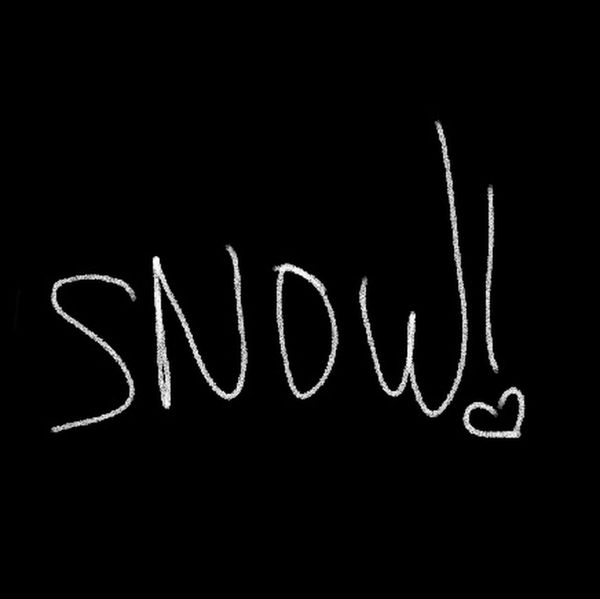 First snow of the season where I live!😁its too dark to get a pic of it tho🙁 Let it snow!!🌨❄❄☃️☃️ Handwriting  Text Blackboard  Writing Single Word Black Color Admiration No People Close-up