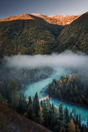 Morning above the Winding River Morning Nature Taking Photos Travel Travel Photography Autumn Beauty In Nature Enjoying Life Fog Forest Landscape Mountain Mountain Range Nature No People Outdoors Scenics Sunrise Tranquil Scene Tranquility Travel Destinations Tree Water Waterfront Wilderness