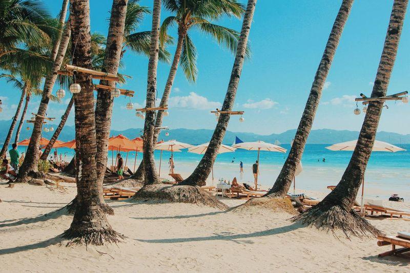 Scenic view of boracay island