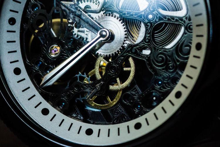 Close-Up Of Mechanical Watch