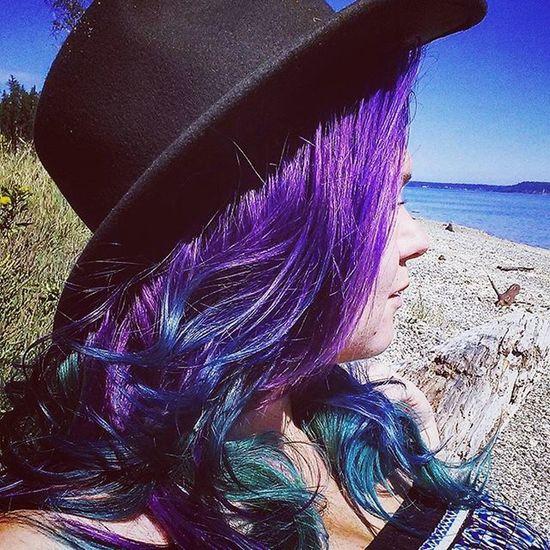 Arganoilperfectintenseity Mermaidhair Pnwbeaches Bluehairdontcare Purplehairdontcare Dyeddolls Permaculturedesigner
