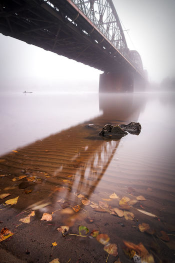 Railway bridge during morning in Prague, Czech republic Prague Czech Republic Charles Bridge St. Vitus Cathedral Architecture No People Built Structure Sky Water Nature Bridge Bridge - Man Made Structure Sea Connection Day Transportation Fog Tranquility Land Tranquil Scene One Animal Outdoors