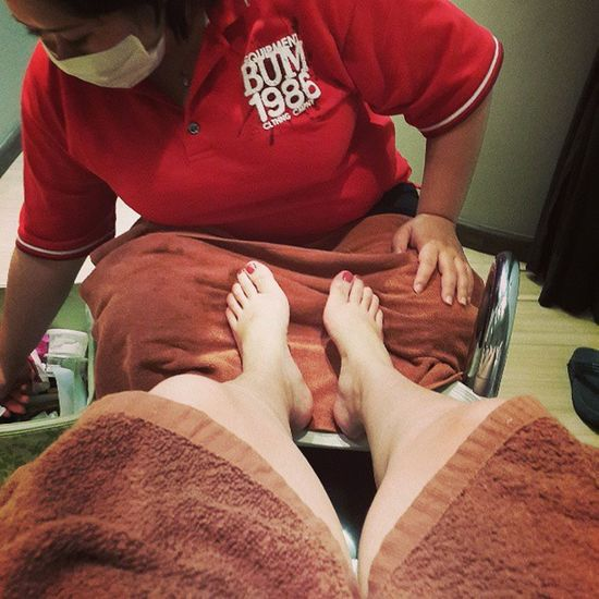 On duty on a saturday, why not treat myself a nice pedicure after work :) Essencevale Goldensandsresort Pamperday