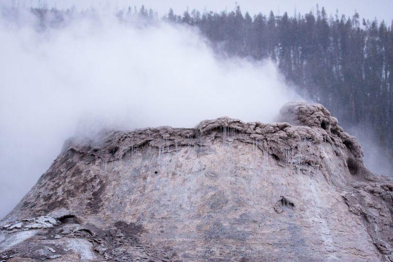 View of volcanic rock