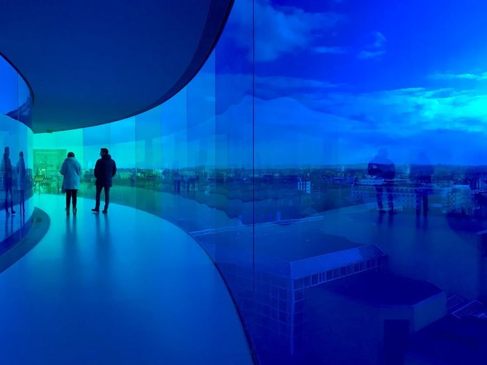 ShotOnIphone Århus Blue Real People Two People Sky Walking Men Architecture Built Structure Silhouette Lifestyles Full Length People Adult