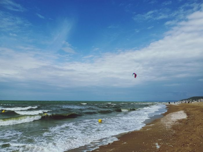 On the beach Waves Cabourg  Normandie Water Wave Sea Flying Beach Sand Adventure Parachute Sport Summer Paragliding Kiteboarding Extreme Sports Surfer Surfboard Windsurfing Water Sport Tide