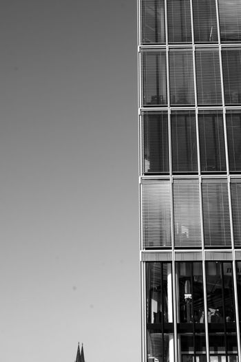 Recently I saw a series of pix from the cologne cathedrals towers: Always the same perspective, totally different skies. This view reminded me of that so I had to shoot it but I had to change the context a bit. Architecture Architecture_bw B&w Photography Black & White Black And White Blackandwhite Blackandwhite Photography Blinds Cologne Cologne Cathedral Geometry Glass - Material Kranhäuser Kölner Dom Modern No People Rheinauhafen Structure Urban Window