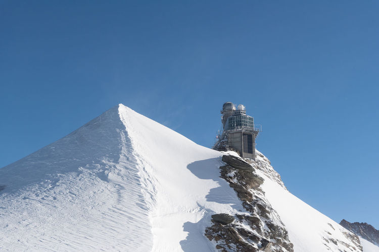 Sphinx Observatory Observatory Station Switzerland Alps Travel Alps Astrophysics Clear Sky Europe Geophysics Highest Jungfrau Laboratory Landmark Mountain Mountain Peak Outdoors Scenics - Nature Scientific Experiment Snow Sphinx Summit Switzerland Telescope Top Of Europe Winter