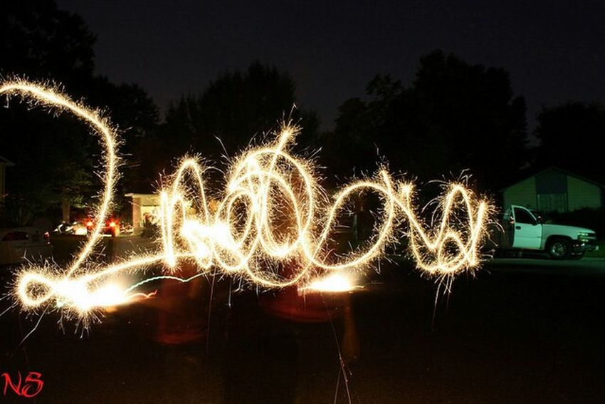 Sparklers Fireworks Long Exposure Happy 4th Of July 2014🇺🇸