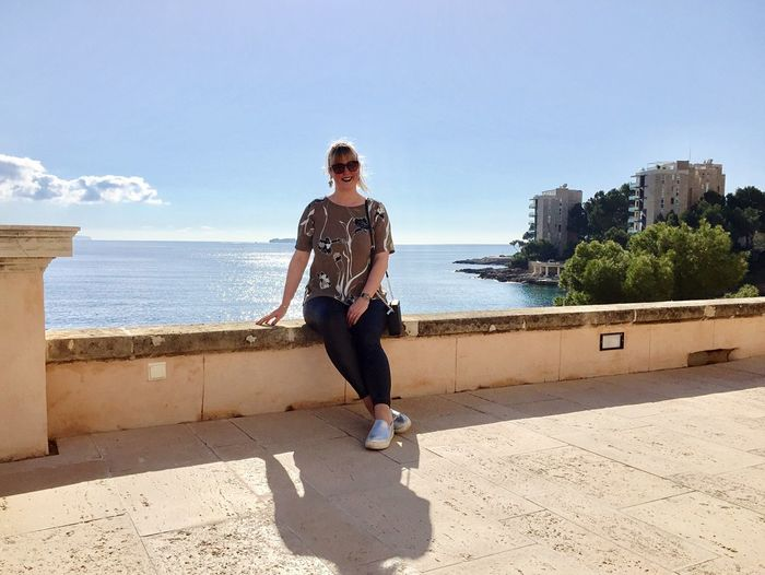 Mallorca Mediterranean Sea Ocean Sunshine Sun Beautiful Happy Spaın Full Length One Person Sky Real People Sunlight Leisure Activity Sea Lifestyles Water Casual Clothing Architecture Nature Built Structure Day Land Front View Fashion Outdoors My Best Photo