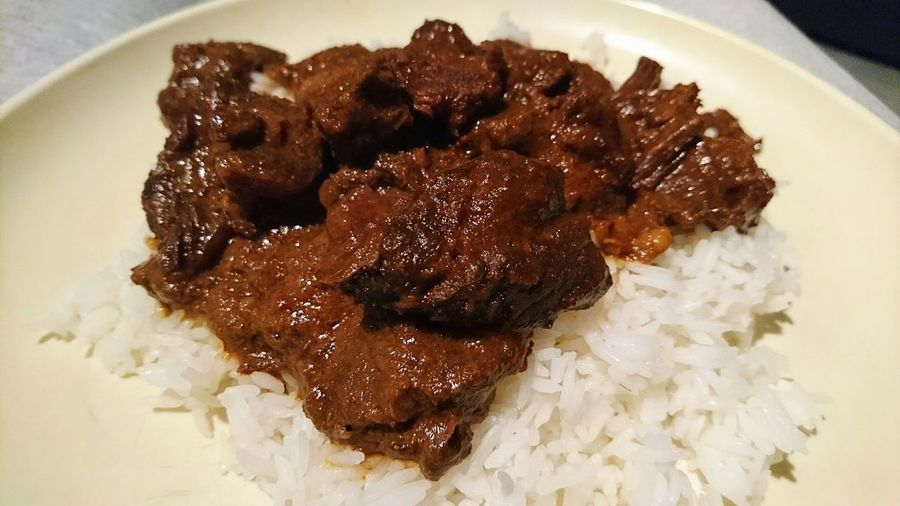 And next Whatsonmyplate Rendang with Basmati Rice Indonesian Food Food Photography Foodspotting