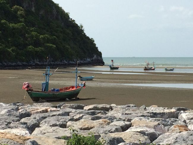 Beach Beauty In Nature Day Land Mode Of Transportation Nature No People Rowboat Sea Sky Transportation Water