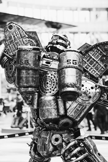 Art Back Side Bangkok Close-up Day Fair Machinery Metallic No People Old Outdoors Part Of Pathum Wan Robot Selective Focus Showcase April Siam Discovery Steel Made Thailand