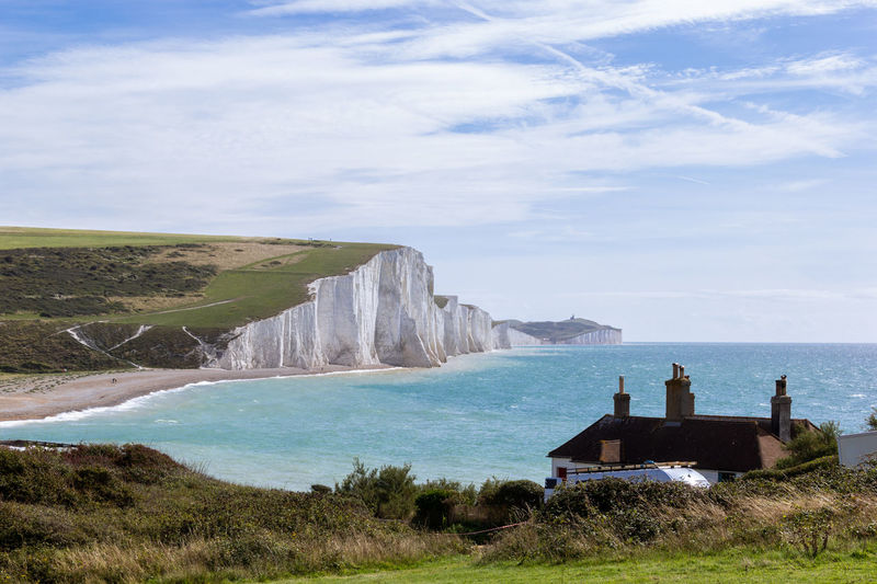 Landscape of seven sisters cliff with blue sky