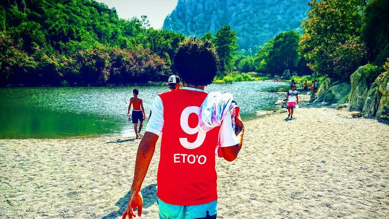 Tree Standing Water Vacations Park - Man Made Space Casual Clothing Tranquil Scene Red Looking Tourism In Front Of Scenics Eto'o Antalya Olympos Olymposbeach Nature Antalyaspor Redwhite Turkey