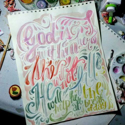 Practice Daily Grind  Lettering Art Not Bad