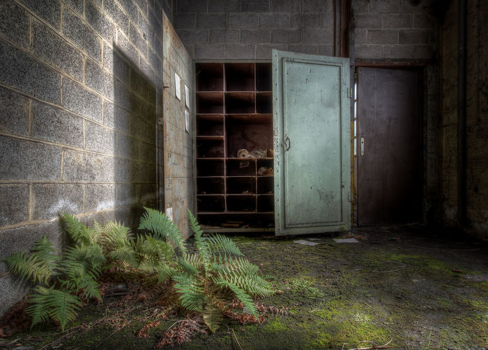 Abandoned Places Decay Industry Tranquility Abandoned Brick Brick Wall Closet Decaying Deterioration Dirty Indoors  Naturetakesover No People Obsolete Old Run-down Tranquil Scene Urbex Urbexphotography Whennaturetakesover Zen