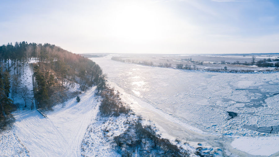 River Nemunas, Rambynas hill, Lithuania Aerial View Woods Forest Dronephotography Drone  Aerial Shot Aerial Photography Frozen Nature River Arctic Nemunas Neman Rambynas Lithuania Lithuania Nature Lietuva Snow Cold Temperature Winter Water Tree Beach Sea Sunlight Sky Horizon Over Water Frozen Water Polar Climate Frost Ice Frozen Weather Condition