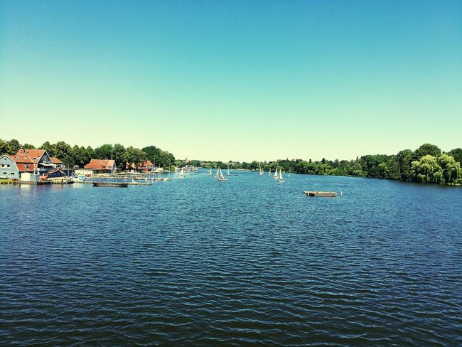 Borkenhagen Wakenitz Marli Lübeck Water Clear Sky Tree Blue Nautical Vessel Lake Sky