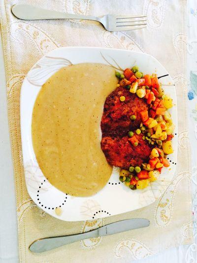 Food Porn Awards Lunch Delicious Chicken Steak Sauce Vegetables First Eyeem Photo