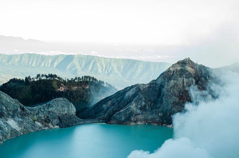 Bluefire Ijen Crater Explorebanyuwangi Eastjava Landscapes With WhiteWall