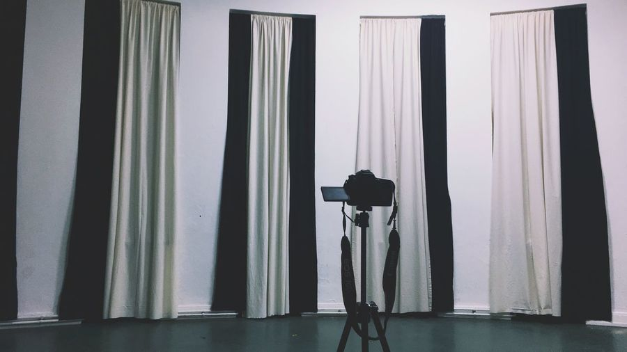 my camera Curtains Tall Windows Black And White Curtain Real People Photography Themes Indoors  Lifestyles Silhouette Photographing Camera - Photographic Equipment