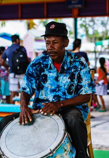 EyeEm Selects Arts Culture And Entertainment Focus On Foreground One Person Music Drum - Percussion Instrument Adult Musician One Man Only People Only Men Skill  Performance Drummer Real People Bahamas Nassau, Bahamas Occupation Adults Only Day Outdoors Popular Music Concert