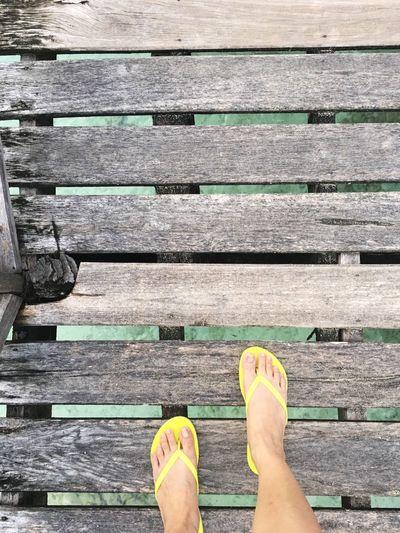 Feet Boardwalk Mobilephotography