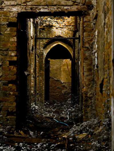 derelict Abandoned Arch Architecture Brick Building Building Exterior Built Structure Damaged Day Deterioration Door Entrance History No People Obsolete Old Outdoors Ruined Run-down Stone Wall The Past Wall Wall - Building Feature Weathered