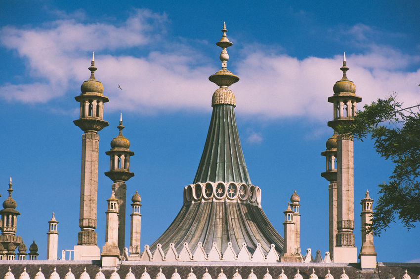Architecture Astronomy Brighton Brighton Royal Pavilion Brighton Uk City Cityscape Day Dome No People Outdoors Place Of Worship Royal Pavilion Royal Pavilion Gardens Scenics Sky Tower Travel Travel Destinations Vacations