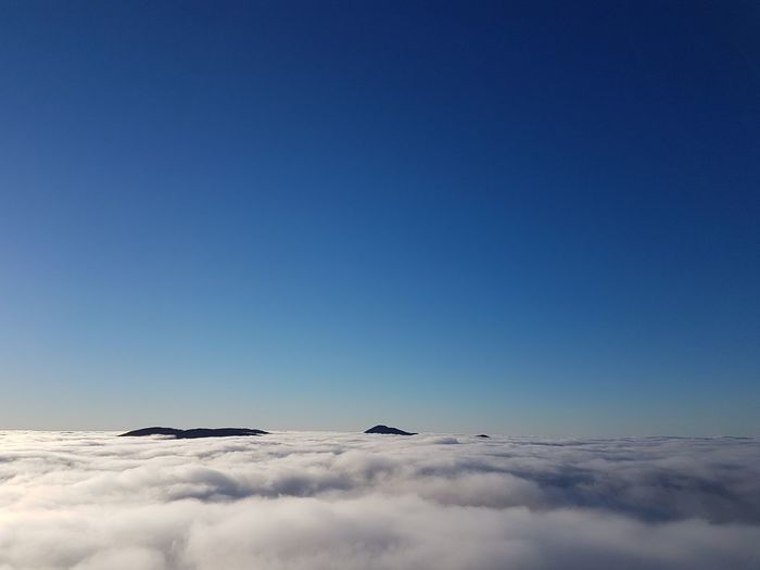 Over the clouds