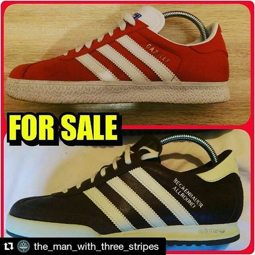 @the_man_with_three_stripes with ***For sale*** Adidas Gazelle UK size 7/7.5 Condition 8/10 no rips or tears or stains minimal wear to soles. £30 Delivered. Adidas Beckenbauer UK size 8 Condition mint brand new without box sadly. £30 Delivered For more information on either trainer we DM @the_man_with_three_stripes with Two pairs of cracking trainers in my opinion.. what's your thought lads? Adidasoriginals Adidasoriginal Thebrandwiththethreestripes Thebrandwiththreestripes Threestripesbrands Threestripesbrand Adidassler Adidasthreestripe Adidas Adiporn Adidasart Adidasspringsummer Adidashandball
