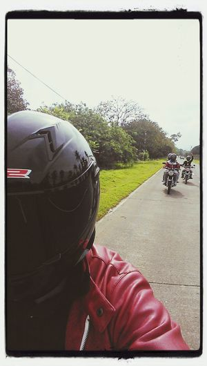 Selfie while driving... Badass Bikers Roadtrip Bagac #bataantourism