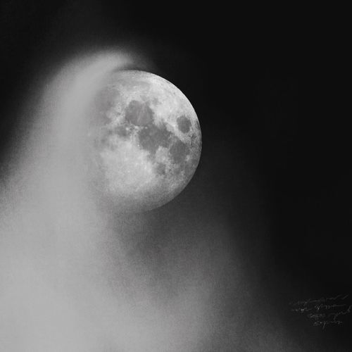 Lunamoon Moon Blackandwhite Drawing Moon Surface Astronomy Nature Night Planetary Moon Beauty In Nature Scenics Tranquility Low Angle View Outdoors No People Sky Half Moon Space Exploration Space Close-up