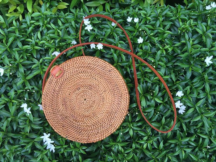 Green Color High Angle View Plant Growth Outdoors Leaf Day No People Nature Close-up Freshness Eyeem Philippines Rattan Bag Rattan Bag Fashion