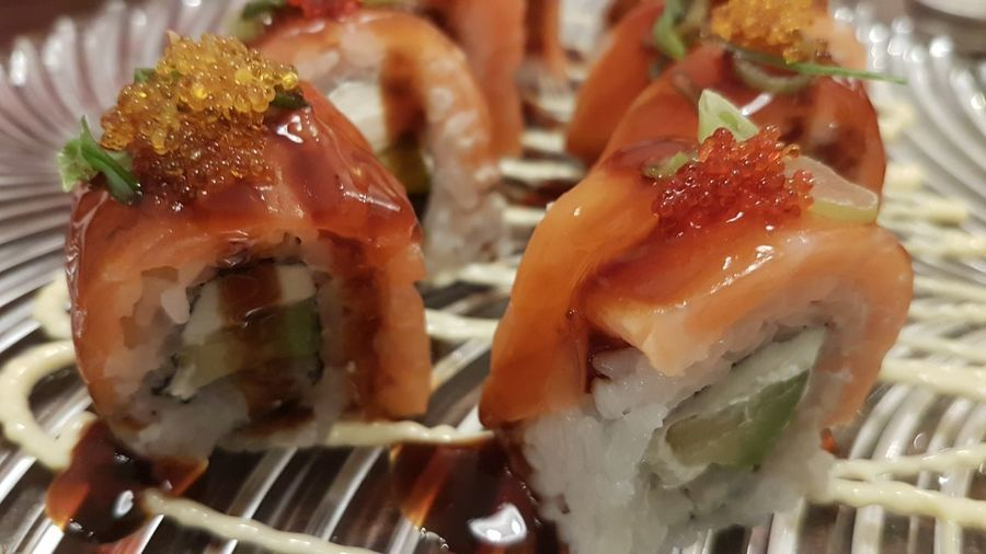 Sushi Rolls Sushi Roll Japanese  Japanese Food Asian Food Sashimi  Sushi Seafood Cultures Japanese Food Raw Food Still Life Close-up Food And Drink Caviar Asian Culture Served Rice - Food Staple Serving Size Salmon Prepared Food Asian Food Salmon - Seafood