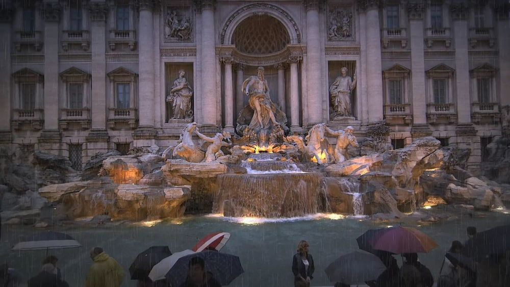 Trevi Fountain Travel Destinations Tourism Travel Architecture Water Statue Rome, Italy Rome Italy🇮🇹 Ancient Civilizations Fountain City Architecture_collection Architecture Illuminated In The Night City City Life Colour Photography Tranquility Moving Around Rome