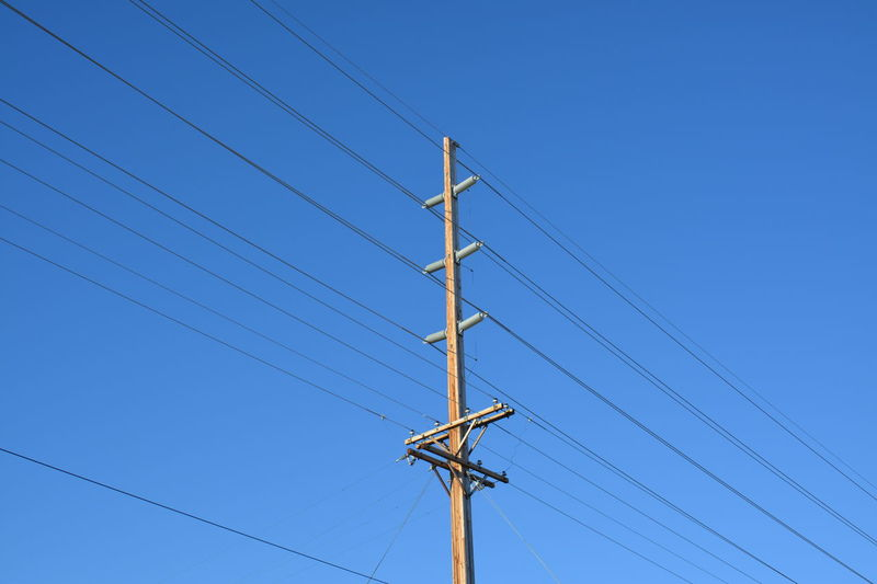 Billings Montana USA Blue Blue Sky Cable Check This Out Clear Sky Communication Connection Electric Lines Electric Pole Electricity  Electricity Pylon Eye4photography  Fuel And Power Generation Infrastructure Low Angle View No People Outdoors Power Line  Power Supply Rural Sky Taking Photos Technology Telephone Line Utility Pole