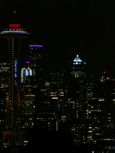 City Lights Architecture Art Brights Building Exterior Built Structure City City Cityscape Dark Darkness And Light Illuminated Lights Moon Night Night Lights Night Photography Nightphotography Nightshot No People Outdoors Pasific Seattle Seattle, Washington Space Needle Washington The City Light