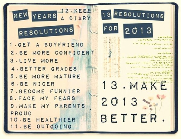 from tumblr. 13 resolutions for 2013