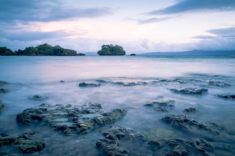 Took this photo in Paguriran Island, Sorsogon, Philippines. Beach Beauty In Nature Cloud - Sky EyeEmNewHere Island Landscape_photography Long Exposure Nature Photography Nighshot Nightscape Nightsky No People Outdoors Sea Sea And Sky Seascape Seaside Summer Summertime Sunrise Sunset Tranquil Scene Tree Water Waterfront