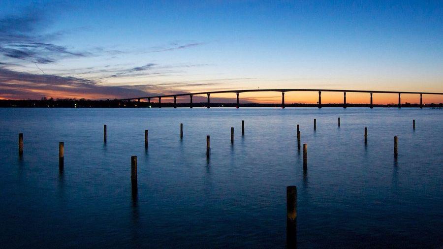 Landscape Patuxantt Riverr Solomon's Island Night Shott Bridgee First Eyeem Photo