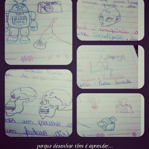 Porque desenhar tbm é aprender... é expressar o que o cérebro processou... Historiadaarte Registrovisualesonoro Aulasdedesigngrafico