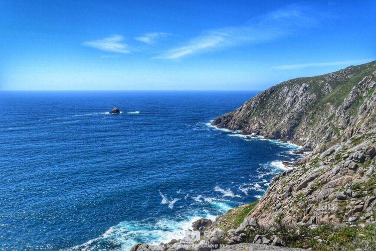 Costa da morte Landscape Seascape Sea Ocean Water Waves Mountains Sky Clouds Blue Sky Acoruña Galicia