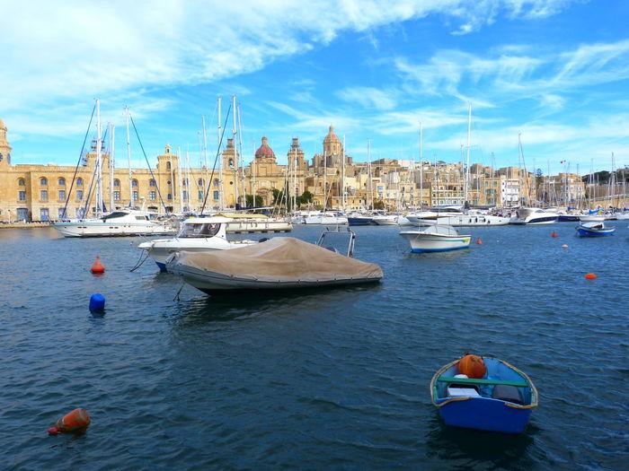 Malta Senglea Mediterranean  Marina Mediterranean Sea Nautical Vessel Transportation Mode Of Transportation Water Nature Day Sea Sailboat Waterfront Travel Moored Outdoors