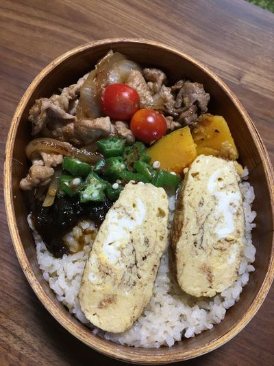 たまにはUPしてみた(*´艸`) Goron Kitchen お弁当 EyeEm Best Shots Moto Life Food Food And Drink Freshness Ready-to-eat Healthy Eating Still Life Vegetable Close-up