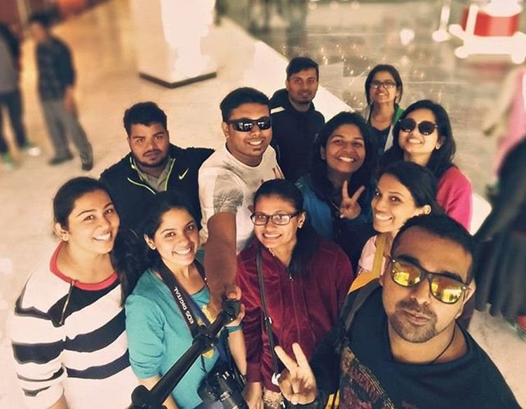 Gang of travelers 😎 Groupshot Groupie Groupselfie Coolpic Travelbuddies Exploringnorth Mall Ellantemall City Citylife Newfriends Oldfriends Awesometrip Picture Perfect Photooftheday Gang Yolo Swagg Zb Goans Traveling Ahd Goa Mytravelgram